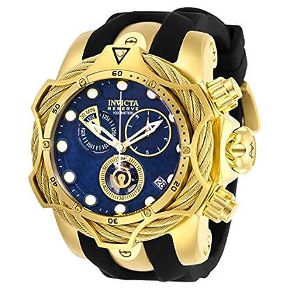 Invicta-Reserve-Herren-Armbanduhr-Armband-Silikon-Schweizer-Quarz-Analog-27707