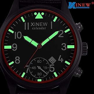 Armbanduhr-jungen-Liusdh-Uhren-Fluoreszierende-Skala-Zeiger-mattes-Zifferblatt-mit-schwarzem-Canvas-Kalender-Sportuhr