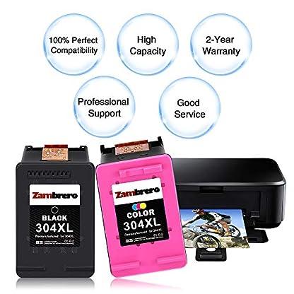 Zambrero-Remanufactured-HP-304XL-304-XL-Druckerpatronen-Schwarz-Farbe-mit-hoher-Reichweite-fr-HP-DeskJet-2620-2630-3720-3730-3732-3735-3760-HP-ENVY-5020-5030-5032-Schwarz-Farbe