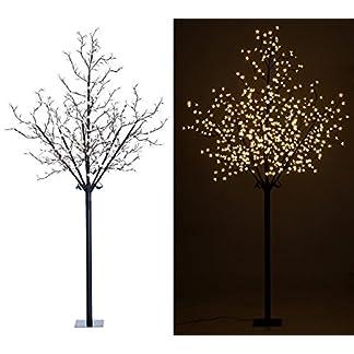Lunartec-LED-Lichterbaum-auen-LED-Deko-Baum-mit-600-beleuchteten-Blten-250-cm-fr-innen-auen-Beleuchteter-Baum-fr-drauen