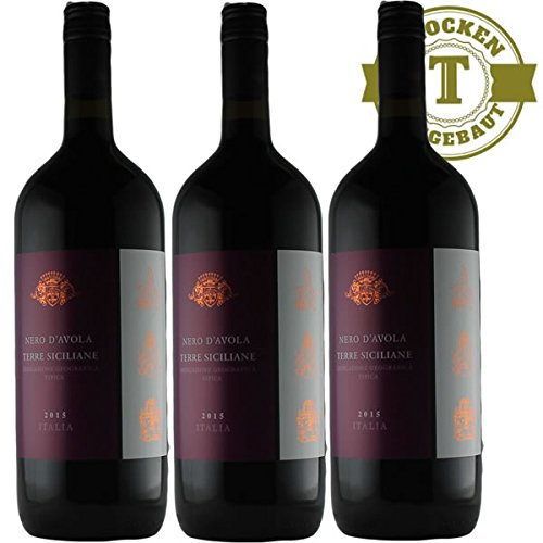 Magnumflasche-Rotwein-Italien-Nero-dAvola-3x15L-VERSANDKOSTENFREI