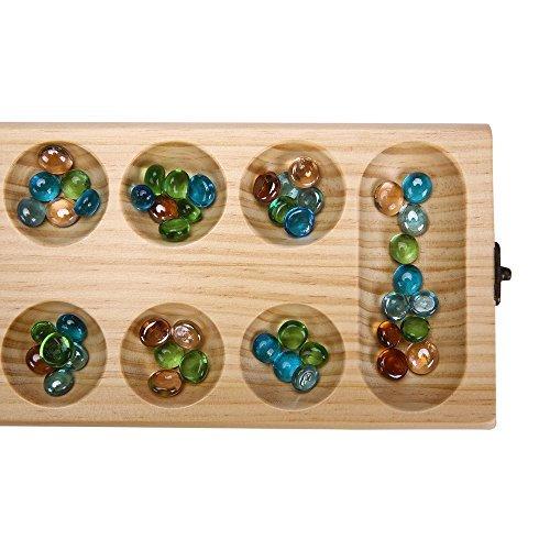 PlayMaty-Holz-Falten-Mancala-Brettspiel-Strategie-Spiel-Afrikanisches-Stein-Spiel-Kalaha