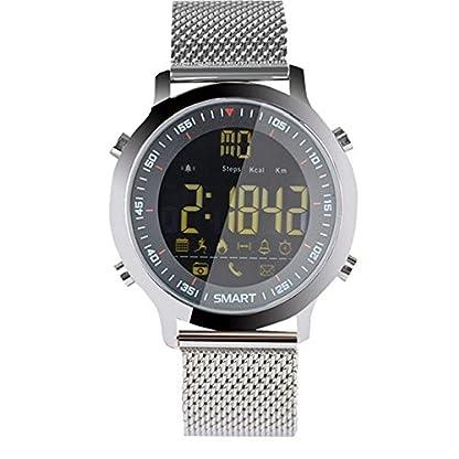 Smart-Watch-Bluetooth-Sportuhr-Fitness-Uhr-Wasserdicht-Schrittzhler-Uhr-DamenHerren-Aktivittentracker-APP-Funktion-fr-Android-IOS-Silber