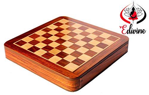 Hlzerne-Magnet-Classic-Square-mit-Schublade-Schachbrett-30-cm-x-30-cmPremium-quatily-Sheeshamwei-Holz-SchachHolz-Spielt-SchachReisespiele-magnetisch-Schach-Sets