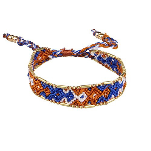 KELITCH Armband Handmade Woven Bohemian Mehrfarbig Mehrfarbig Freundschaftsarmbänder