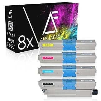 8-Toner-kompatibel-zu-Oki-C301-C321DN-C301DN-MC332DN-MC342DN-MC342DNW-MC340-Series-Schwarz-je-2200-Seiten-Color-je-1500-Seiten