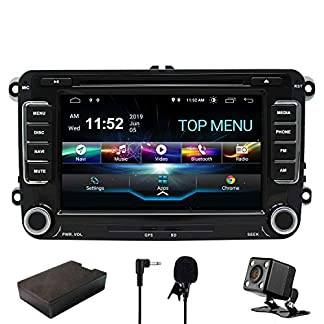 SWTNVIN-Car-Stereo-GPS-Navigator-fr-VW-Doppel-Din-Hebeeinheit-9-Zoll-2-Din-Car-Stereo-GPS-USB-SD-FM-AM-RDS-Bluetooth-SWC-Android-81-System-Rear-View-Camera