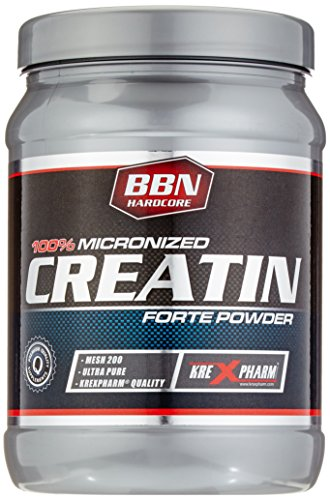 BBN Hardcore 100 prozent Micronized Creatin Forte Powder 200 Mesh Ultrafein Definition Bodybuilding, 1er Pack (1 x 0.45 kg)