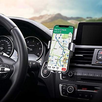 steanum-Qi-Handy-Autohalterung-Qi-Handy-Halter-Auto-Lftungsschlitz-Kompatible-fr-iPhone-XS-Mas-XS-XR-X-8-8Plus-Samsung-Note-5Galaxy-S9-S8-S7-S6-Huawei-Mate-20-Pro-Schwarz