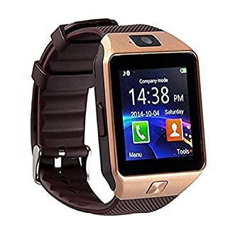 Bluetooth-30-Smartwatch-mit-Kamera-Smartwatch-TF-SIM-Kartenschlitz-Armband-mit-Schrittzhler-Anti-Verlust-Funktion-fr-Smartphones-von-Samsung-HTC-LG-Sony-Huawei-mit-Android-und-iOS-nicht-alle-Funktione