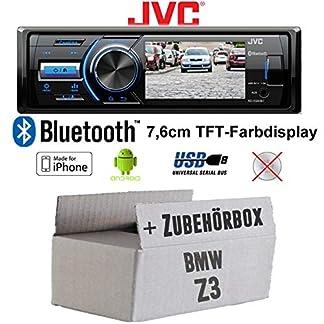Autoradio-Radio-JVC-KD-X560BT-TFT-Display-MP3-USB-Android-iPhone-Einbauzubehr-Einbauset-fr-BMW-Z3-JUST-SOUND-best-choice-for-caraudio