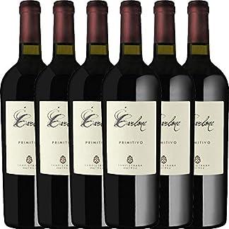 6er-Paket-Carlone-Primitivo-di-Manduria-DOC-2017-Cantina-Sampietrana-mit-VINELLOweinausgieer-trockener-Rotwein-italienischer-Wein-aus-Apulien-6-x-075-Liter