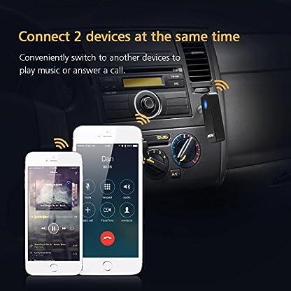 Mpow-Bluetooth-41-Empfnger-Drahtlos-Bluetooth-Receiver-Tragbare-Bluetooth-Adapter-Audiogerte-fr-KFZ-Auto-Lautsprechersystem-mit-Stereo-35-mm-Aux-Input-Schwarz