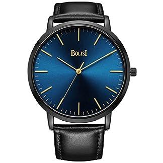 BOLISI-Herren-Damen-Uhren-Superdnn-Elegante-Classic-Analog-Quarz-Fashion-Kleid-Armbanduhr-mit-Rindsleder-Leder-Band