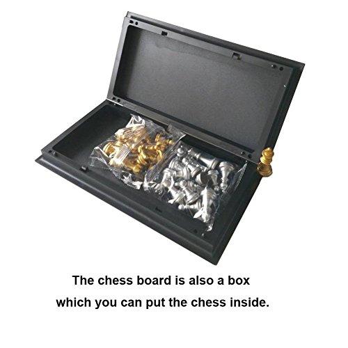 Txyk-Schachspiel-Magnetisch-Klappbar-Schachbrett-Pdagogische-Spiele-fr-ab-6-Kinder-25x25cm