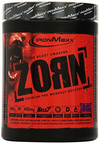 Ironmaxx Zorn Powder Black Currant, 1er Pack (1 x 0.48 kg)