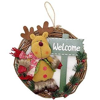 ZXPAG-Weihnachtskranz-Trkranz-Weihnachtstrkranz-Santa-Schneemann-Hirsch-Massivholz-Rattan-Anhnger-fr-Deko-Weihnachten-Advent-Trkranz