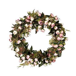 TOOGOO-Weihnachts-Blumen-Kranz-Rosen-Girlande-Mit-Elegantem-Best-Fr-Haupt-Wand-Tr-Und-Fenster-Dekorations-Hochzeits-Dekoration