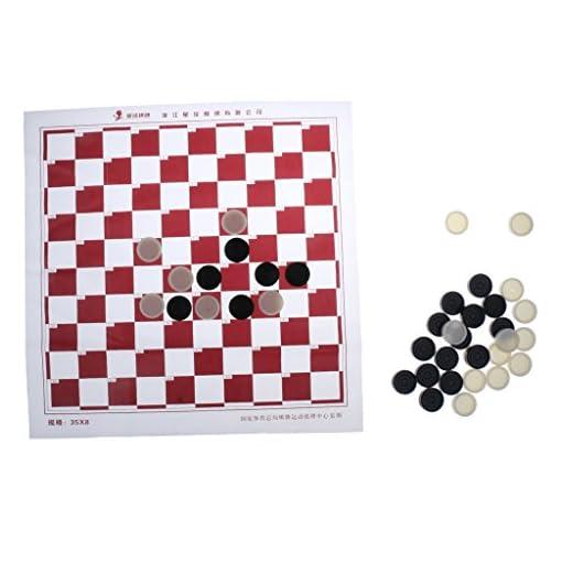 MagiDeal-Groes-XXL-Backgammon-Schach-Schachbrett-Gre-47-x-47-cm-100-Spielfeld