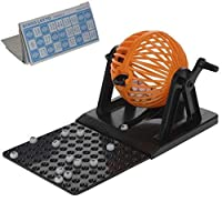 Bingo-Lotto-Traditionell-Familienspiel-Set-Party-Blle-Karte-Spender-Machine-Spielzeug-Tumbler