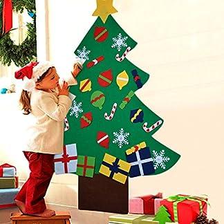COOFIT-Filz-Weihnachtsbaum-32ft-DIY-Filz-Weihnachtsbaum-Set-mit-28-Pcs-Ornamenten-fr-Kinder-Deko-Weihnachten-Weihnachtsspiel-Kinder-Pdagogisches-Spielzeug-Wand-Dekor-mit-Hngenden-Seil