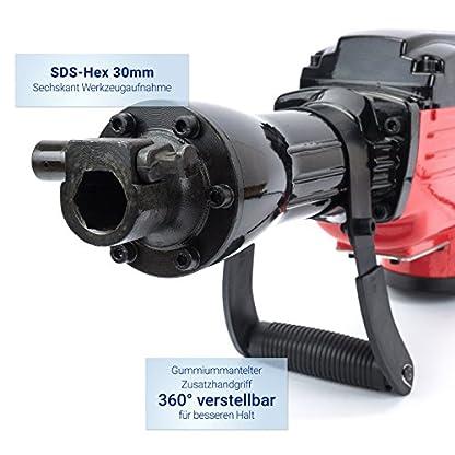 Abbruchhammer-2000-Watt-Zubehr-KOFFER-Meisselhammer-Stemmhammer-VERDA-SN1402
