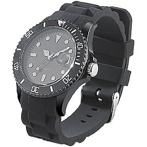 ST-Leonhard-nc7160–944–Armbanduhr-Armband-Silikon-Farbe-schwarz