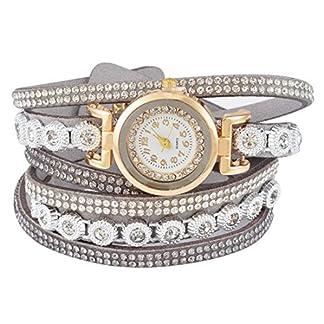 Souarts-Quarz-Armbanduhr-analog-Strasssteine-mehrlagiges-Armband-goldfarben-40-cm