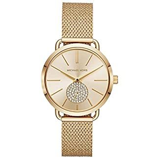 Michael-Kors-Damen-Analog-Quarz-Uhr-mit-Edelstahl-Armband-MK3844