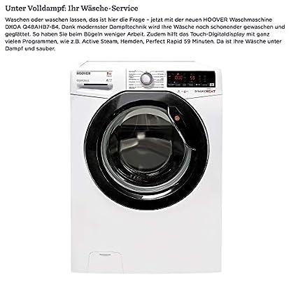 Hoover-Waschmaschine-8Kg-A-1400-Umin-Dampftechnik-Energiesparend-40-14-Programme-Freistehend-Supersilent-Inverter-Motor-DXOA-Q48AHB7-84