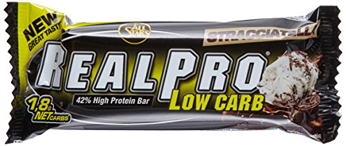 All Stars Realpro Low Carb Bar, Stracciatella, 24er Pack (24 x 50 g)