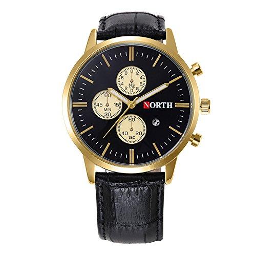 Souarts-Herrenuhr-Wasserdicht-Analog-Quarz-Armbanduhr-Multifunktion-Datum-Kalender-Geschfts-Mode-mit-Edelstahl-Armband-und-Batterie-Uhr