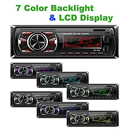 Hoidokly-Autoradio-mit-Bluetooth-Freisprecheinrichtung-60W-x-4-Single-Din-Universal-Autoradio-FM-Empfnger-Eingebautes-Mikrofon-Universal-MP3-Player-Untersttzung-USBTFAUXWMAWAV-Fernbedienung