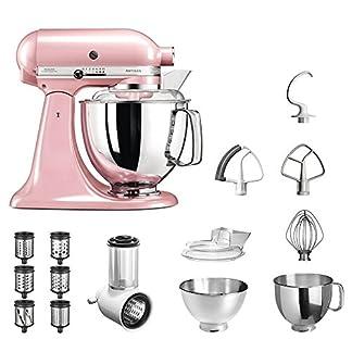 KitchenAid-Kchenmaschine-Artisan-5KSM175PS-Veggie-S-Paket-mit-TOP-Zubehr-Gemseschneider-mit-drei-Trommeln-sowie-zustzlichem-Raspel-und-Reibenpaket-mit-3-weiteren-Trommeln-Seidenpink