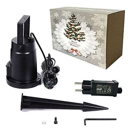 SMITHROAD-IP67-LED-Projektionslampe-Sterne-Muster-Strahler-fr-Weihnachten-Innen-und-Auen-Garten-BeleuchtungWarmwei