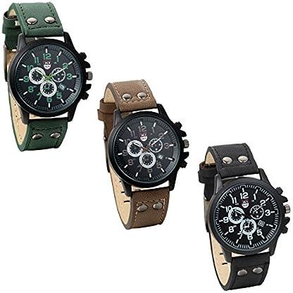 JewelryWe-Herren-Armbanduhr-Retro-Leder-Band-Kalender-Quarz-Analog-Uhr-mit-Digital-Zifferblatt-Schwarz-Braun-Grn