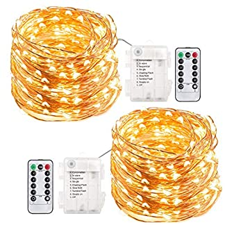 200-LED-Lichterkette-Batterie-Trylight-8-Modi-IP65-Wasserdicht-LED-Kupferdraht-Lichterkette