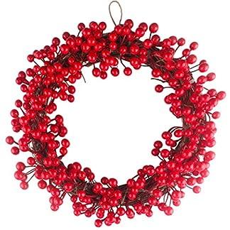 ZXPAG-Weihnachtsdeko-Kranz-Weihnachten-Kranz-Deko-Simulation-Beere-Dekokranz-Rote-Frucht-Fr-Tr-Outdoor-Weihnachts-Parties-Feste-Tren-Feste-Deko