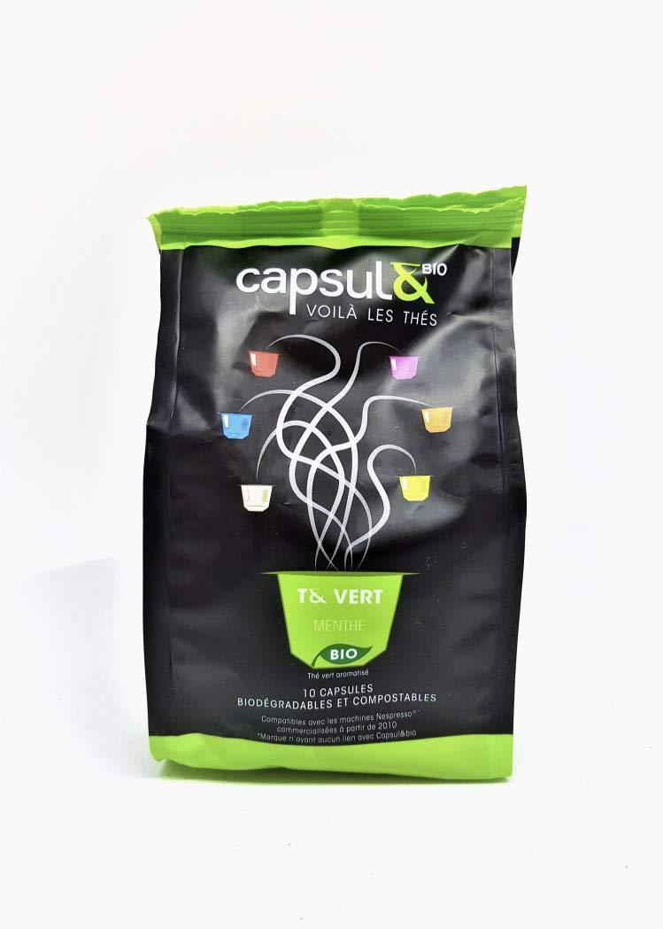 Capsule-Bio-Grner-Tee-mit-Ingwer-und-Zitrone–10-aluminiumfreie-kompostierbare-Teekapseln-Nespresso-kompatibel