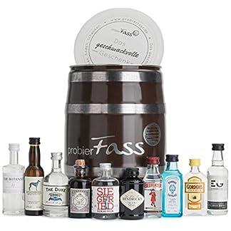 probierFass-Gin-Set-10-beliebte-Gin-Klassiker-8-x-005-l-und-2-x-004-l-in-einem-originellen-Fass-mit-Geschenkverpackung-Gin-Geschenk-Gin-Probierset