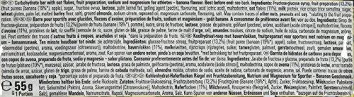 Energieriegel Energize mit Magnesium und Natrium – Fitness-Riegel, Kohlenhydrate Riegel mit Hafer, Früchten und Maltodextrin bei erhöhtem Energiebedarf – 25 x 55 g Banana Punch