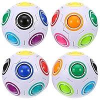4-Packung-Magic-Rainbow-Ball-Puzzle-Geschwindigkeit-Cube-Ball-Spielzeug-Denkaufgabe-mit-11-Regenbogenfarben
