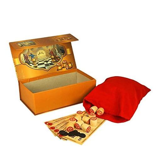Lottospiel-Russisches-Lotto-Loto-Spielset-mit-Holzfiguren-Bingospiel-Familienspiel