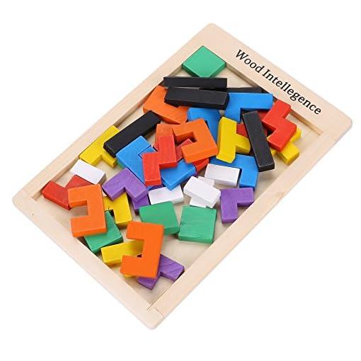 Arshiner-Geometrische-Tetris-Holzbausteine-40-Stcke-Weihnachts-Geschnkideen