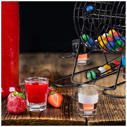 Relaxdays-Trinkspiel-Bingo-Lostrommel-mit-Kurbel-Halterung-6-Shotglser-48-Kugeln-lustiges-Partyspiel-JGA-bunt