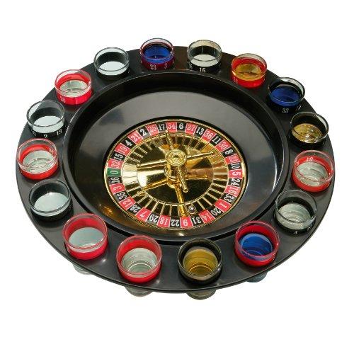 Premier-Housewares-Roulette-Trinkspiel-mit-16-Glsern