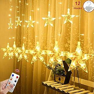 12-Sterne-LED-Lichtervorhang-Lichterkette-fr-InnenAuen-22x1M-Afufu-108LED-Sternenvorhang-Warmwei-wasserdicht-nach-IP65-Fernbedienung-mit-8-Leuchtmodi-Weihnachtsdeko-fr-Fenster-Garten-Zimmer