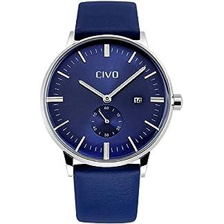 CIVO-Herren-Analoge-Lederband-Uhr-Mnnlich-Luxus-Zeitloses-Einfaches-Entwurf-Klassisch-Modisch-Geschfts-Quarzuhr-Mnner-Wasserdichte-Casual-Kleid-Kalender-fr-Herren-Armbanduhr-Uhren