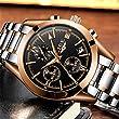 Herren-Schwarz-Chronograph-Uhren-Herren-Multifunktions-Datum-Kalender-Edelstahl-Armbanduhr-Luxus-Business-Fashion-Gents-Handgelenk-Uhren-Casual-Kleid-Wasserdicht-Analog-Quarz-Armbanduhr-fr-Herren