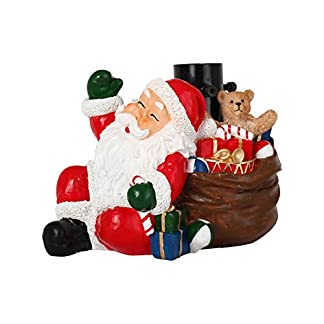 Um-Mitternacht-5pds012-Fu-von-Weihnachtsbaum-Kunstharz-Weihnachtsmann-Kunstharz